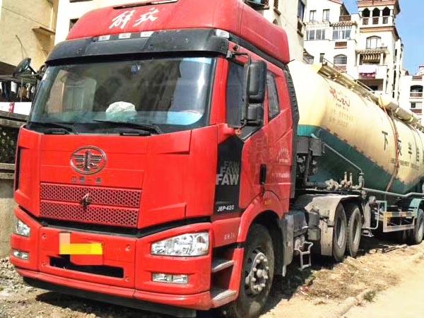 解放j6半挂水泥罐车、420bob客户端