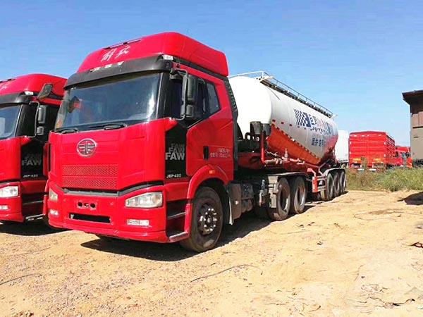 解放j6半挂水泥罐车、420bob客户端。国四