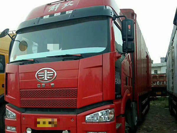 解放J6半封闭式货车,350bob客户端